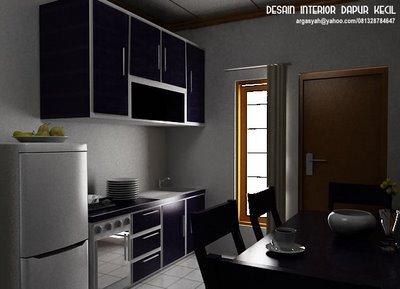desain interior dapur kecil rumahku