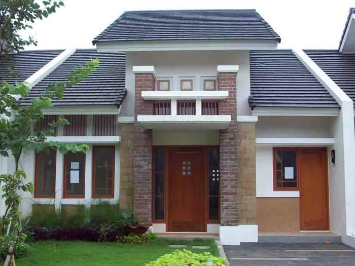 Contoh Rumah Satu Lantai Yang Cukup Manis
